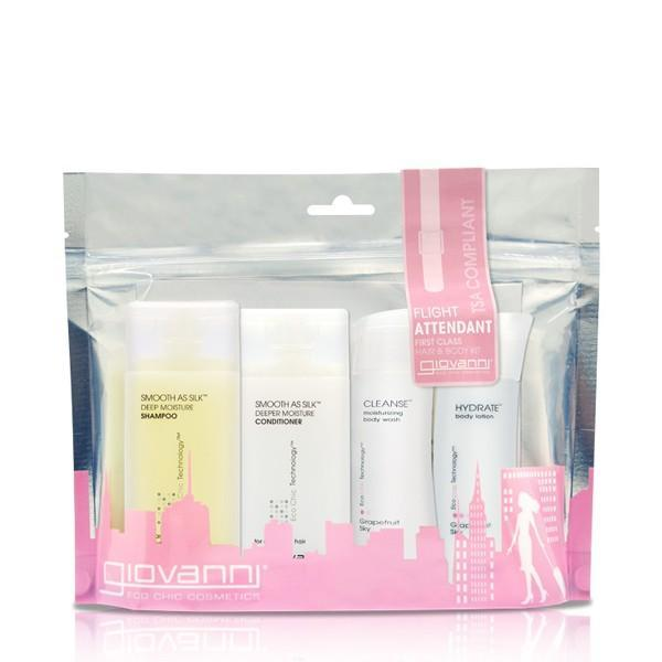 Giovanni Cosmetics -- Smooth as Silk Flight Attendant First Class Hair & Body Kit 4 x 60 ml