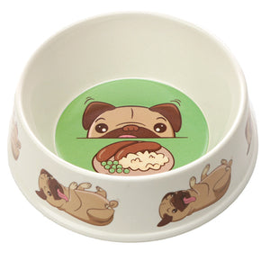 Bambootique Mopps Pug Pet Bowl-biglittlebamboo.co.uk