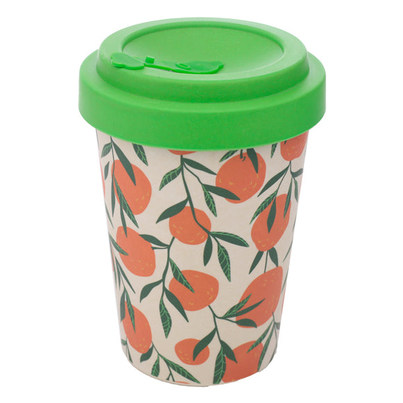 Bamboo Composite Oranges Screw Top Travel Mug