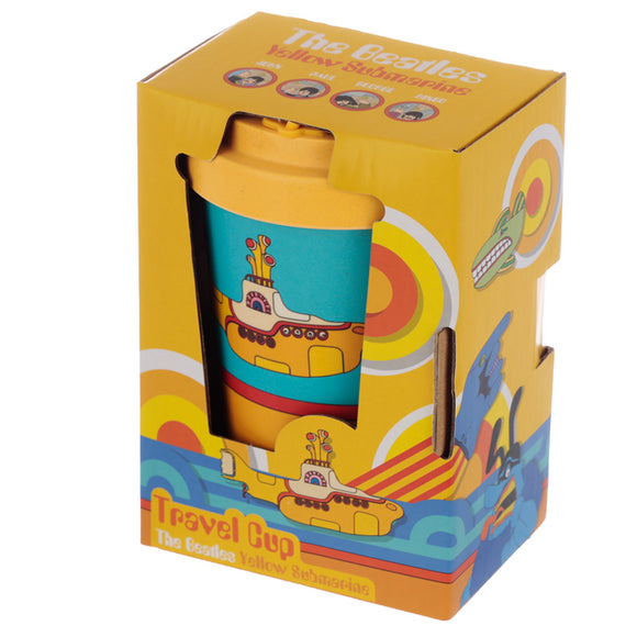 The Beatles Yellow Submarine Blue and Yellow Screw Top Travel Mug