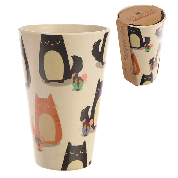 Bambootique Feline Fine Cat Cup - biglittlebamboo.co.uk