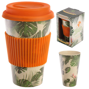 Bambootique Cheese Plant Travel Mug-biglittletrading.co.uk