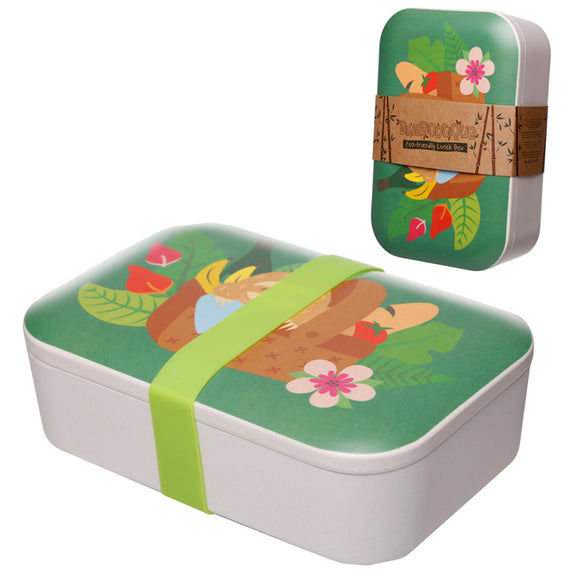 Bambootique Sloth Lunch Box-biglittlebamboo.co.uk