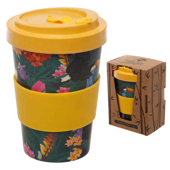 Bambootique Toucan Screw Top Travel Mug-biglittlebamboo.co.uk