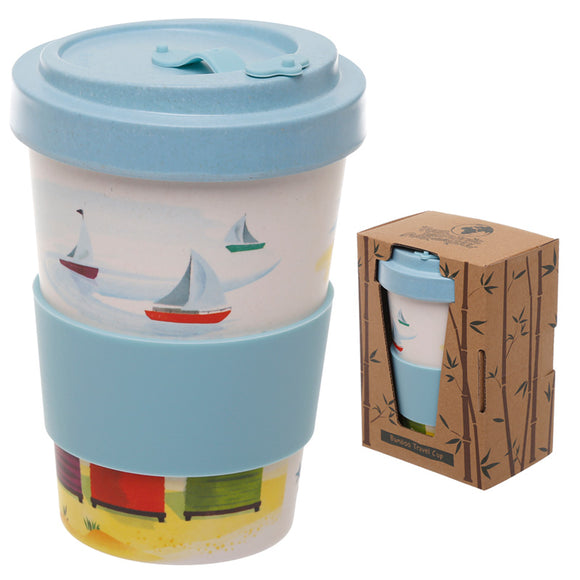 Bambootique Beach Screw Top Mug-biglittletrading.co.uk