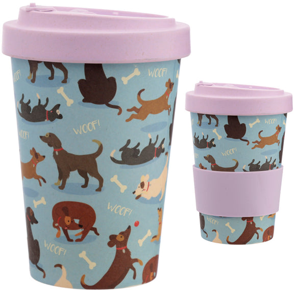 Bambootique Catch Patch Dog Screw Top Mug-biglittletrading..co.uk.
