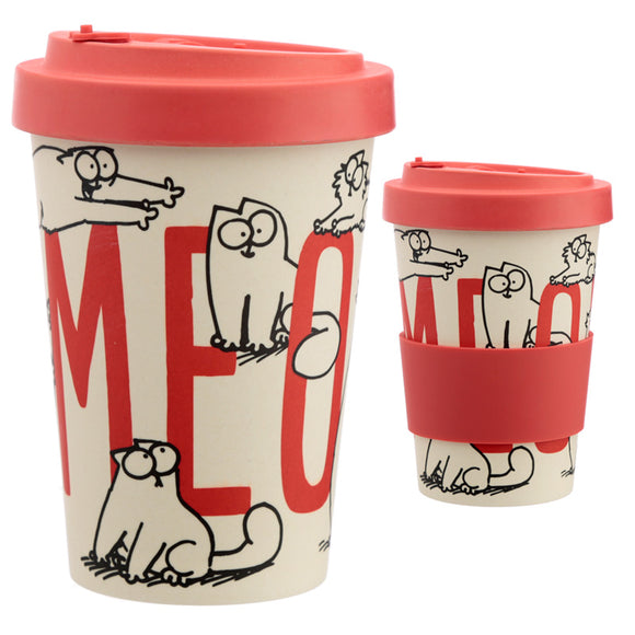 Bamboo Composite Simon and #039;s Cat Screw Top Travel Mug