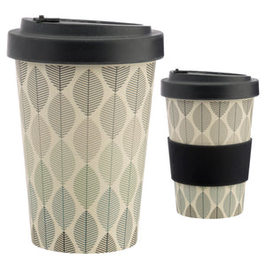 Bamboo Composite Longshaw Geometric Leaf Screw Top Travel Mug