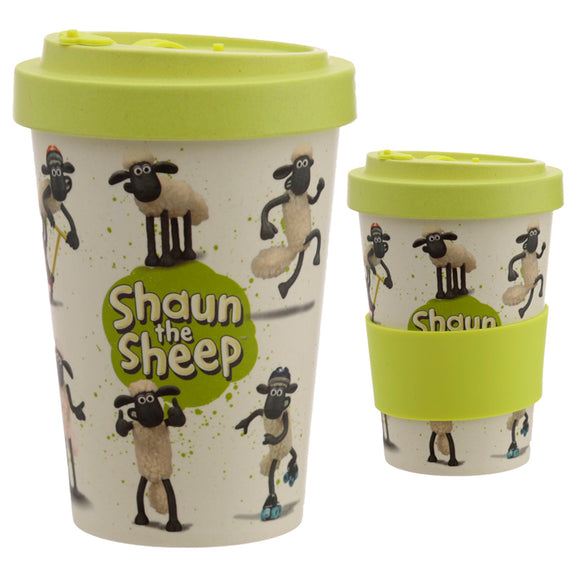 Bambootique Shaun the Sheep Screw Top Travel Mug-