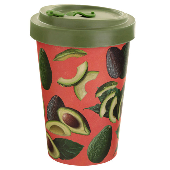 Bambootique Avocado Screw Top Travel Mug-biglittletrading.co.uk