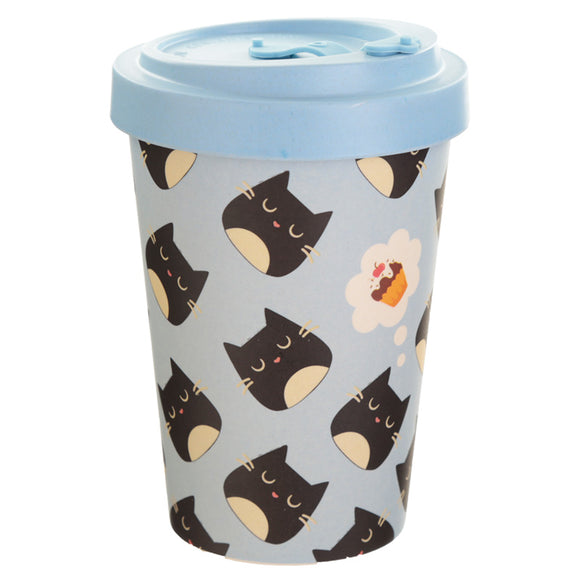 Bambootique Feline Finne Screw Top Mug-biglittletrading.co.uk