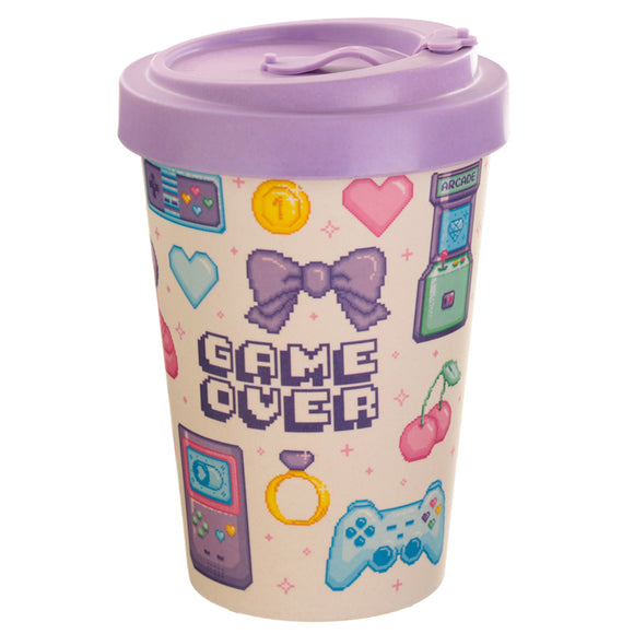Bambootique Retro Game Over Travel Mug-biglittlebamboo.co.uk
