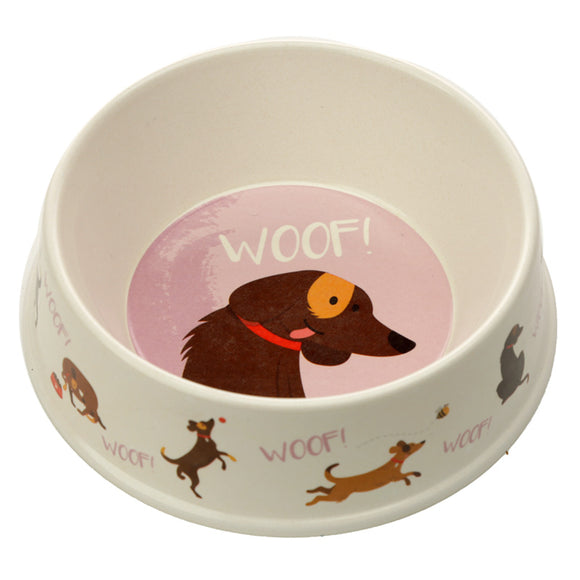 Bambootique Catch Patch Dog Bowl-biglittletrading.co.uk
