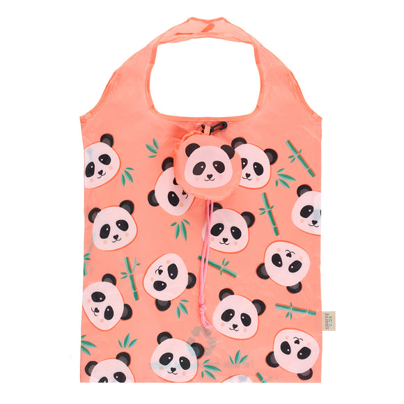 Penelope Panda Foldable Shopping Bag-biglittlebamboo.co.uk