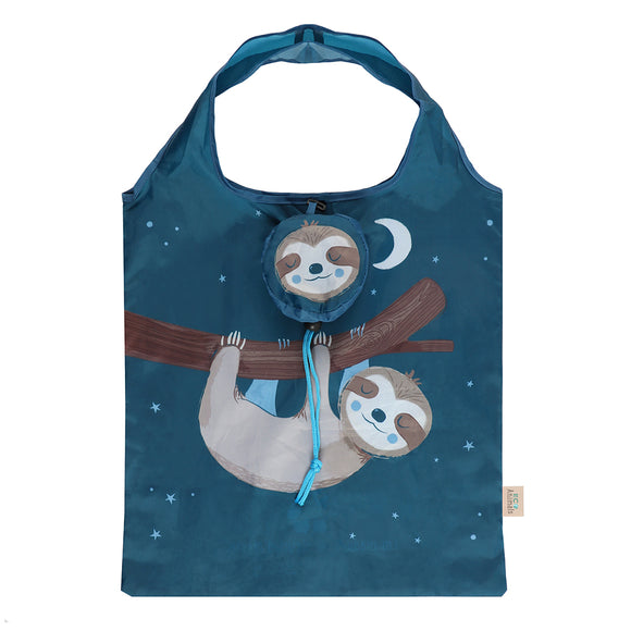 Sidney Sloth Foldable Shopping Bag-biglittlebamboo.co.uk
