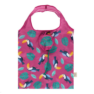 Toucan Foldable Shopping Bag-biglittlebamboo.co.uk