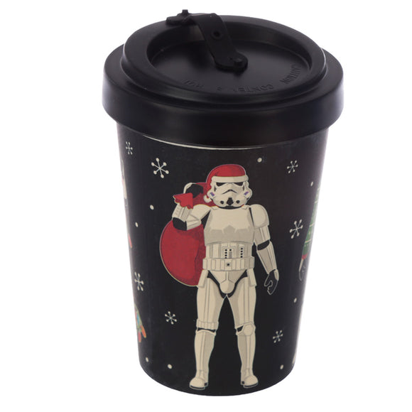 Original Stormtrooper Christmas Black Screw Top Travel Mug