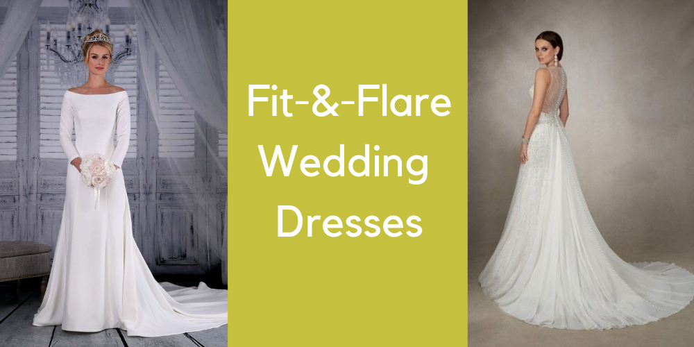 46f7bdfc78 Fit-and-Flare Wedding Dresses - Amica Bridal Boutique Plymouth