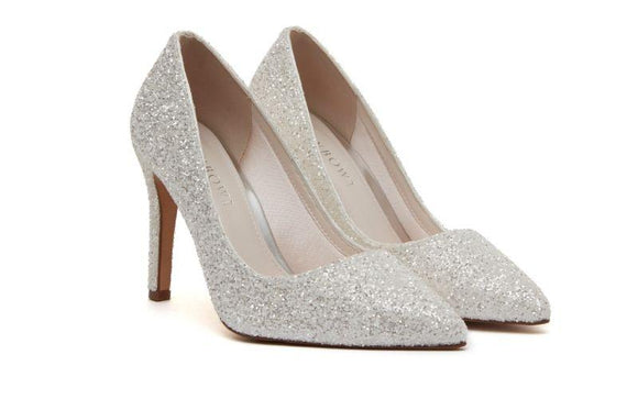 Sparkly stiletto wedding shoe by rainbow club