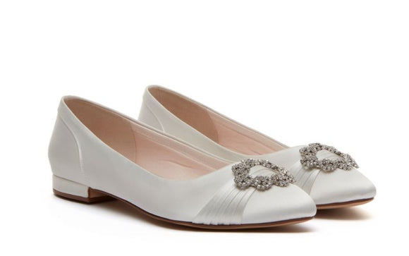 Flat bridal shoe - dulcie by rainbow