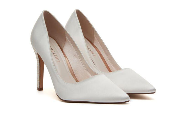 Rochelle ivory satin and parquet bridal shoe