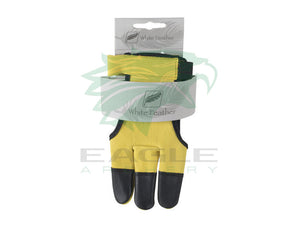 White Feather Bow hand protector glove for longbow