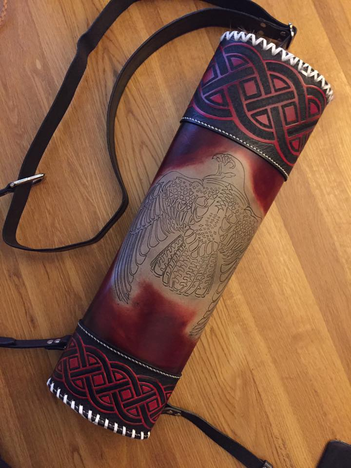 Custom Leather Back Quiver