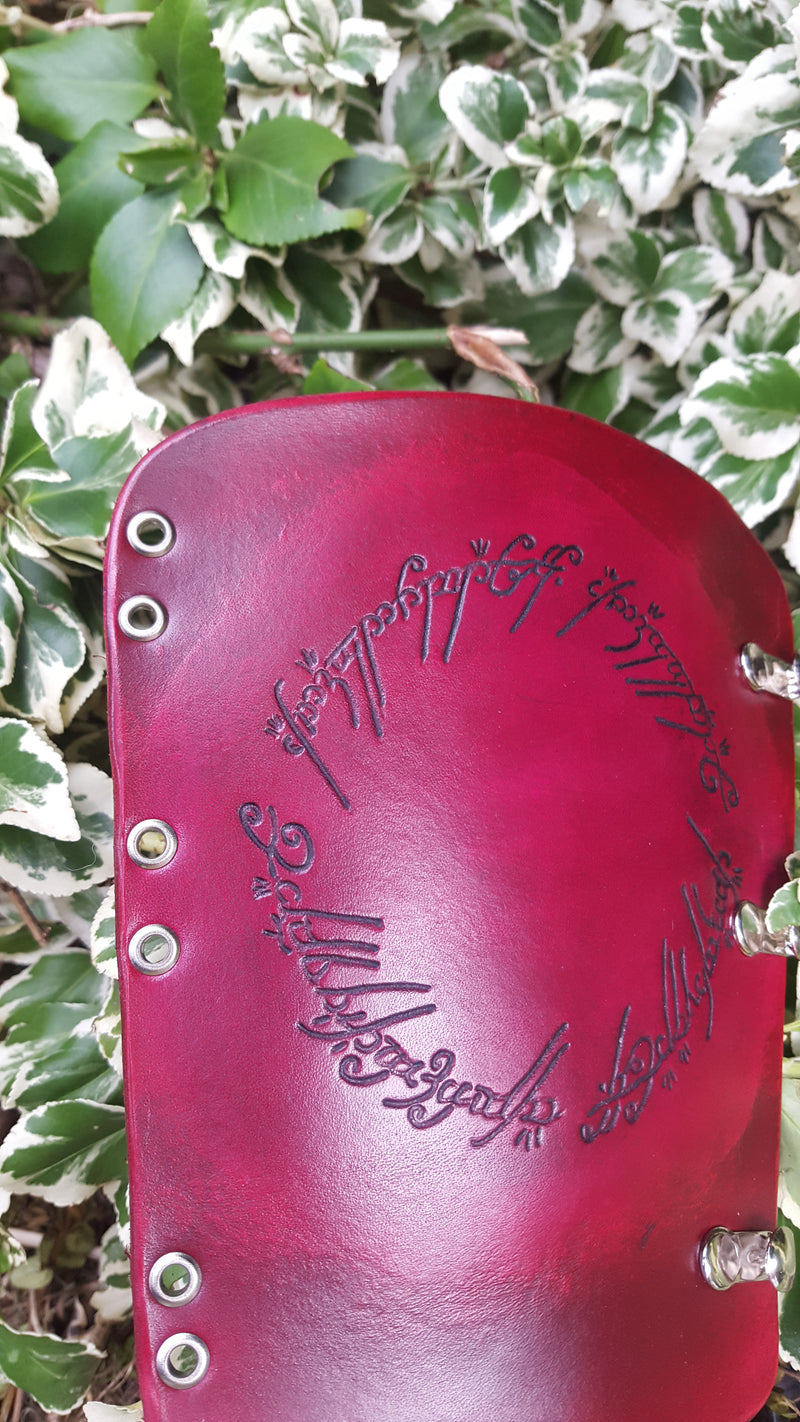 Handcrafted Leather Bracer - Lord of the Rings