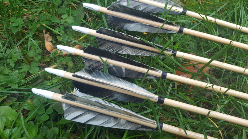 Premium wooden arrows - traditional and longbow archery