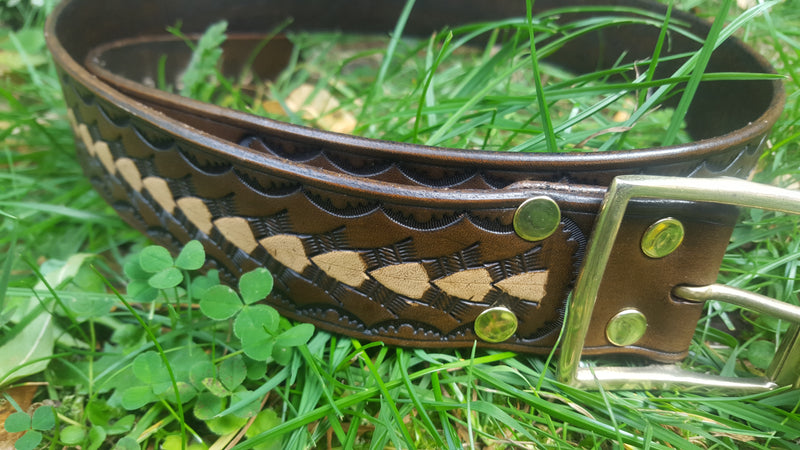 Leather Belt - Arrow Design