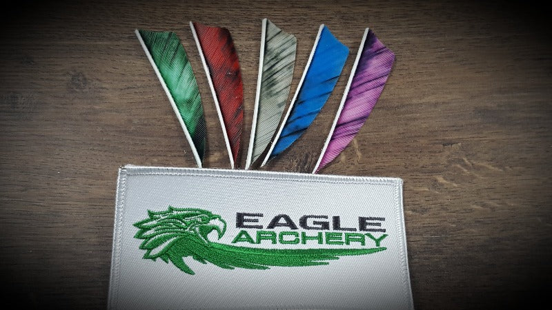 "4"" Shield Gateway feathers - Left Wing - Camo colours - 1 Dozen"