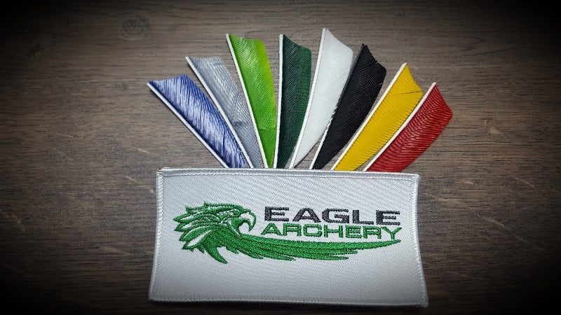 "4"" Shield Gateway feathers - Left Wing - Solid colours - 1 Dozen"