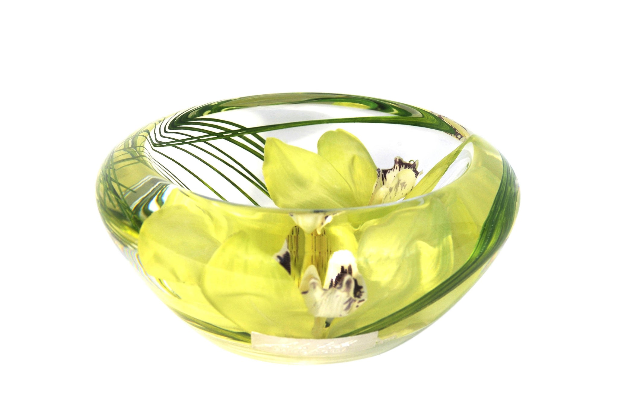 Green Cymbidium Bowl (Small)