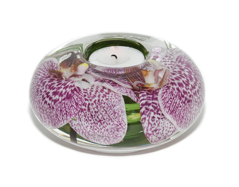 Spotted Purple Orchid Tea Light Holder (Large)