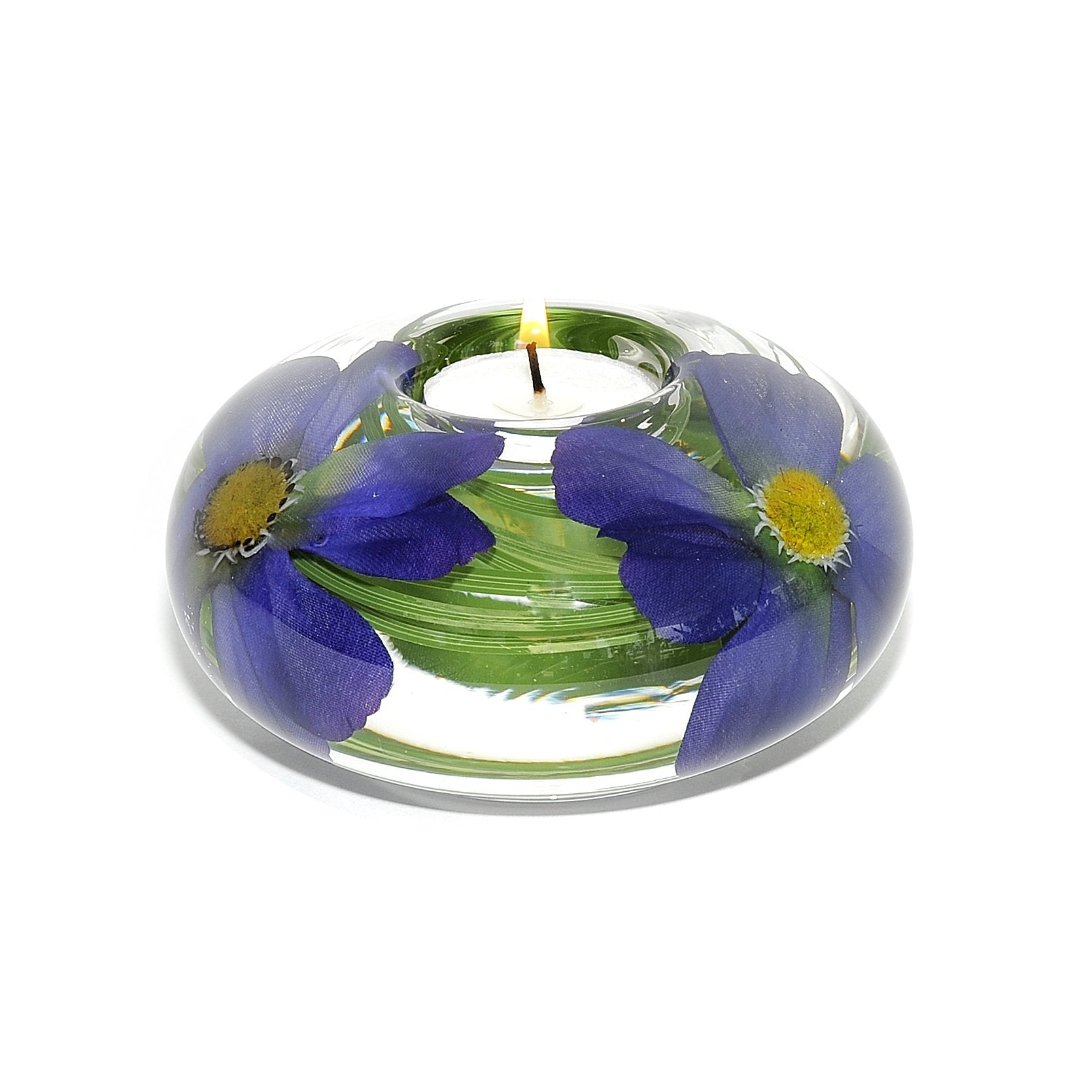 Blue Cosmo Tea Light Holder (Large)