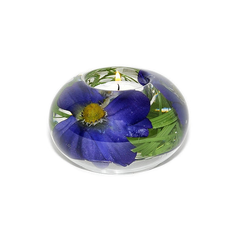 Blue Cosmo Tea Light Holder (Small)