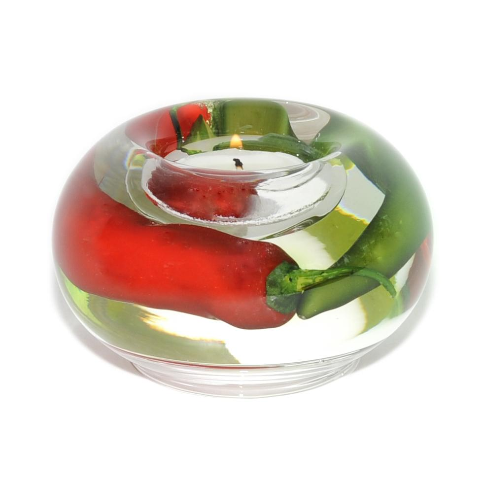 Chili Peppers Tea Light Holder (Small)