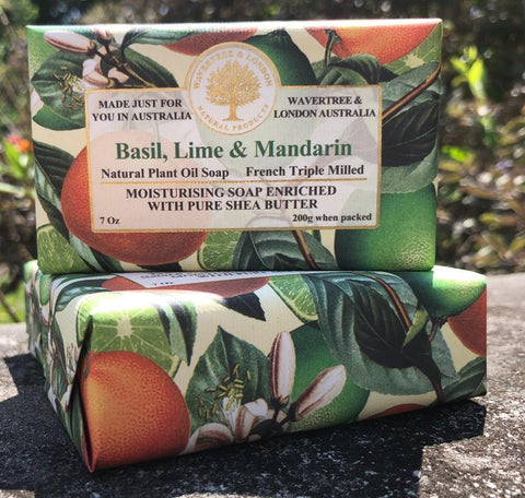 Basil, Lime, and Mandarin Soap