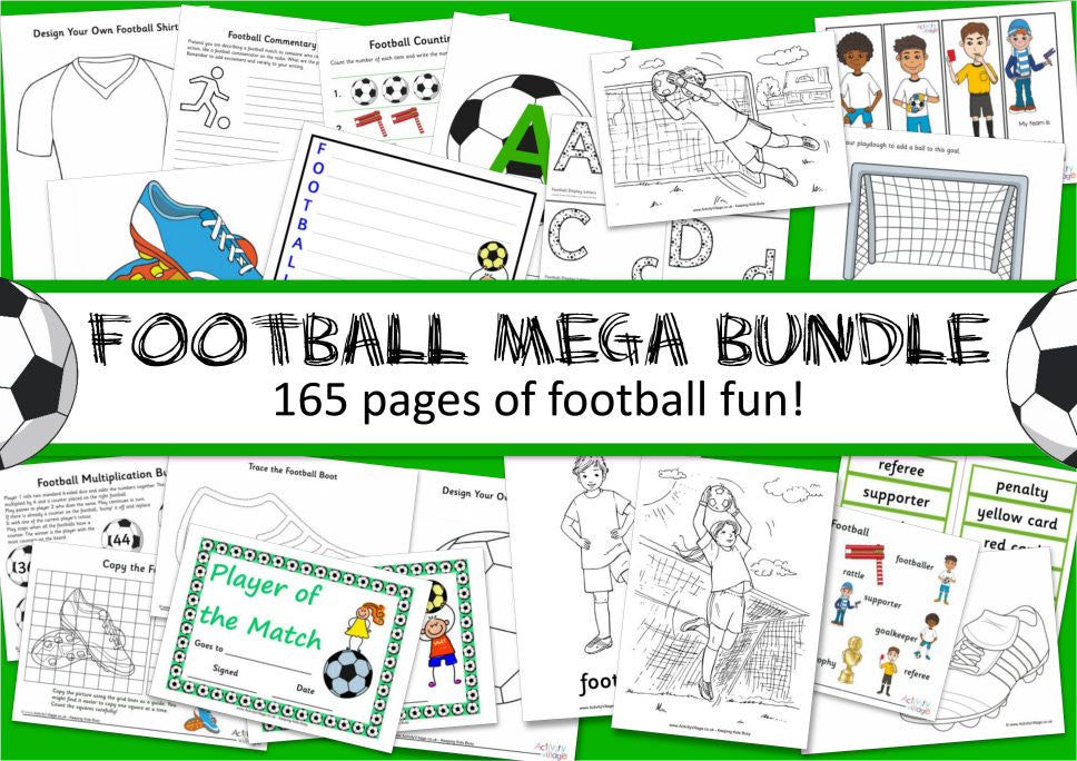 Football Mega Bundle - 165 pages of football fun!