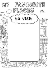 My Book of Lists - My Favourite Places to Visit