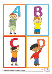 Alphabet of Children Cards - example 1