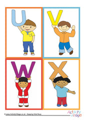 Alphabet of Children Cards - example 2