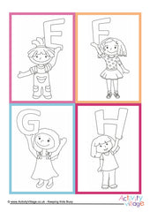 Alphabet of Children Cards - example 5