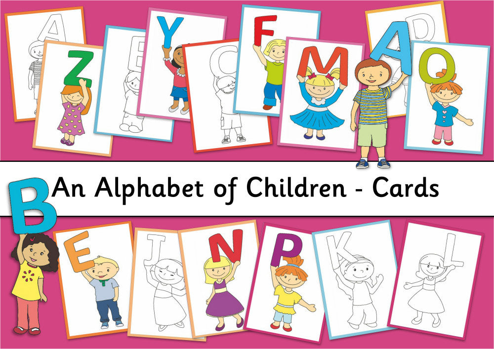 Alphabet of Children Cards - Digital Download