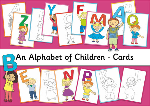 Alphabet of Children Cards