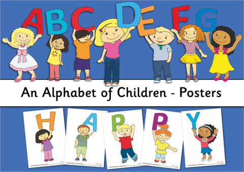 Alphabet of Children Posters