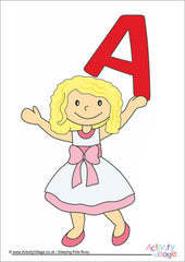 Alphabet Posters - Children - Girl A