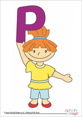 Alphabet Posters - Children - Girl P