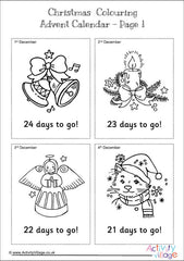 Christmas Colouring Advent Calendar - Countdown page example