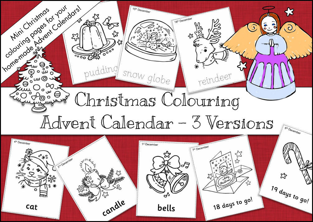 Christmas Colouring Advent Calendar